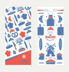 bakery banner bakehouse vector image