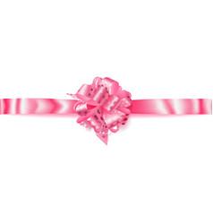 Big horizontal bow made of ribbon with small vector