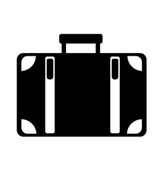 black icon suitcase cartoon vector image