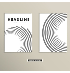 Book cover with abstract lines and twirl vector image