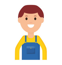 builder worker avatar character vector image