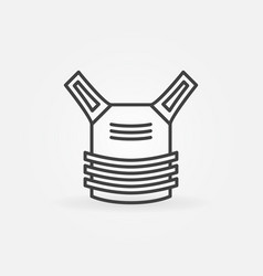 bulletprovest linear concept icon vector image