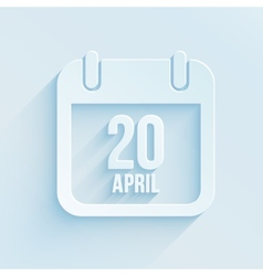 Calendar apps icon 20 april 2014 easter day vector