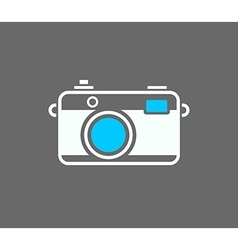 Camera icon isolated on gray background vector image