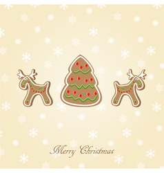 Candy Christmas card vector image