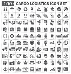 Cargo logistics icon set vector image