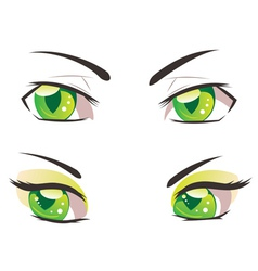 Cartoon Green Eyes vector