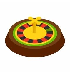 Casino symbol roulette isometric 3d icon vector image