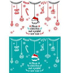 christmas design elements christmas design vector image