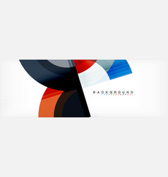 Circular geometric abstract background vector