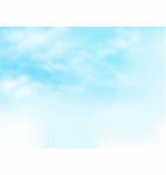 clear blue sky with clouds pattern background vector image