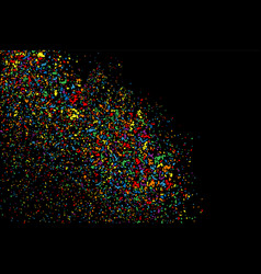 colorful explosion confetti colored stains and vector image
