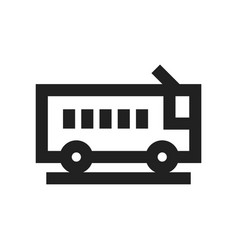 concept of bus transport icon vector image