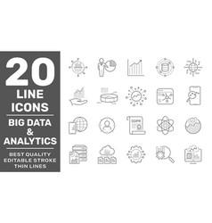 data analysis big statistics analytics vector image