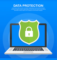 data protection privacy and internet security vector image