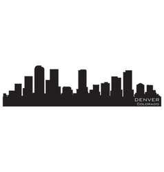 denver colorado skyline detailed silhouette vector image vector image