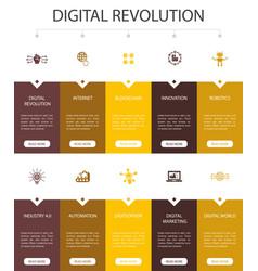 Digital revolution infographic 10 option ui design vector