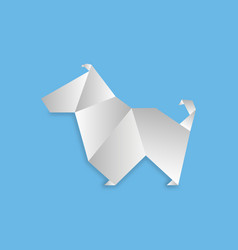 dog in origami style vector image
