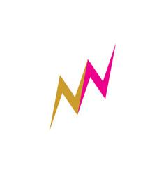 double n letter symbol logo icon element vector image