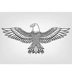 Eagle tattoo vector image vector image