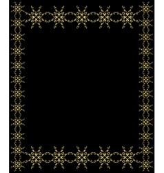 Elegant gold frame vector image