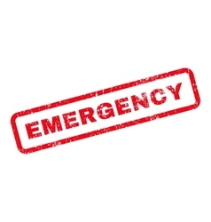 Emergency Text Rubber Stamp vector