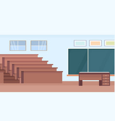 Empty auditorium lecture hall theater room vector