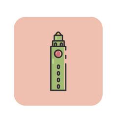 flat color ann arbor icon vector image