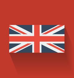 Flat flag uk vector
