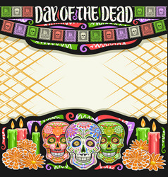 Frame for day dead vector