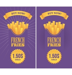 French fries banners vector image