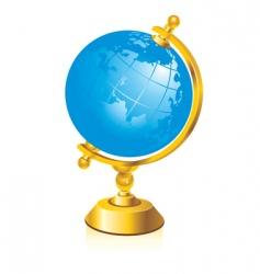 glossy globe vector image