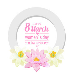 greeting card 8 march international womens day vector image