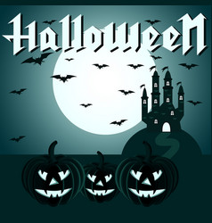 Greeting card for halloween vector