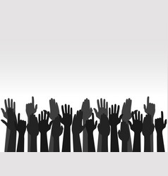 Hands up colors voting hand raised up election vector
