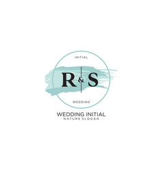 Initial rs letter beauty logo handwriting vector