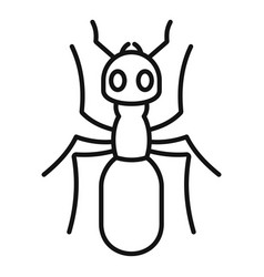 Insect ant icon outline style vector