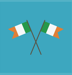 ireland flag icon in flat design vector image