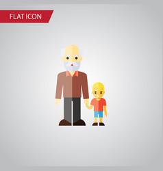 isolated grandpa flat icon grandson vector image