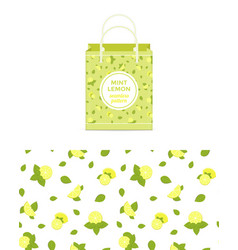 lemon and mint colorful seamless pattern vector image
