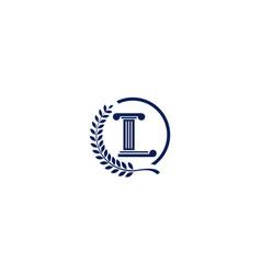 Letter l for law pole logo design vector