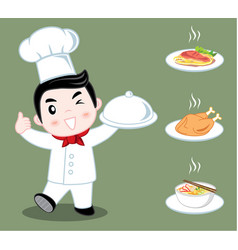 little boy chef vector image