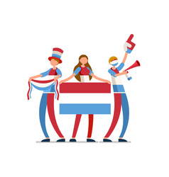Luxembourgish flag luxembourg people vector