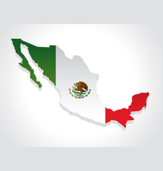 map mexico 3d vector image