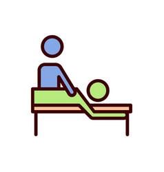 Massage icon therapy icon vector