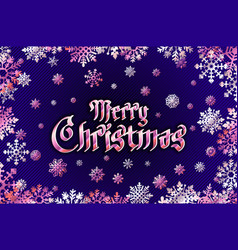 merry christmas holiday greeting with snowflake vector image