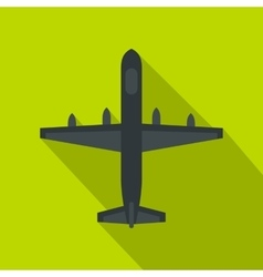 Military plane icon flat style vector