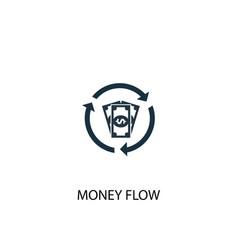 money flow icon simple element vector image