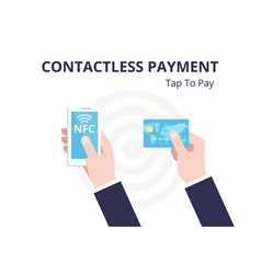 Nfc concept contactless payment with smartphone vector