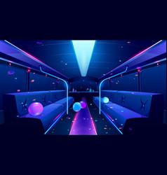 Nightclub interior in party bus vector